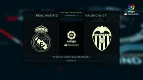 Vídeo resumen Real Madrid - Valencia (2-2). Jornada 2, Liga Santander 2017-18