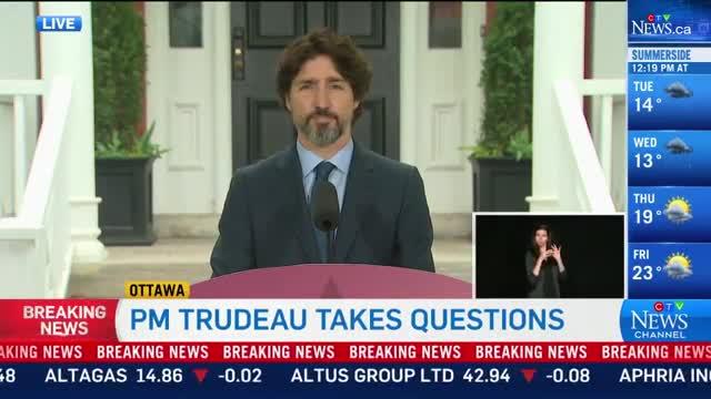 La viral respuesta de Justin Trudeau frente a las amenazas militares de Trump contra las protestas