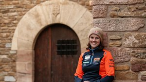 Laia Sanz, a su regreso del Rally Dakar
