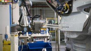 Uno de los nuevos robots poniéndole el nombre a un Arona.