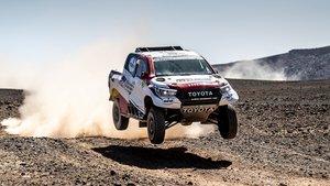 Fernando Alonso, en acción durante el Rally de Marruecos
