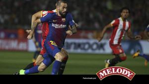 Aleix Vidal fue uno de los protagonistas en el partido ante el Girona