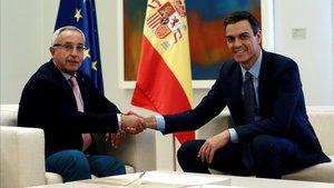 Alejandro Blanco y Pedro Sánchez en la reunión