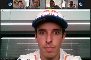 Àlex Márquez, en videoconferencia desde Brno