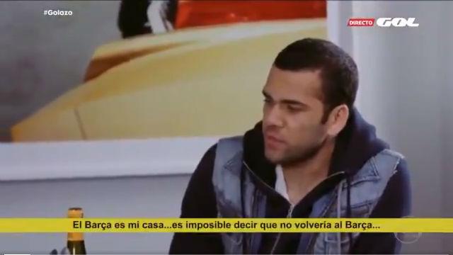 Alves realizó unas sorprendentes declaraciones sobre una posible vuelta al Barça
