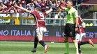 Andrea Belotti celebra uno de los goles que consiguió ante el Sassuolo