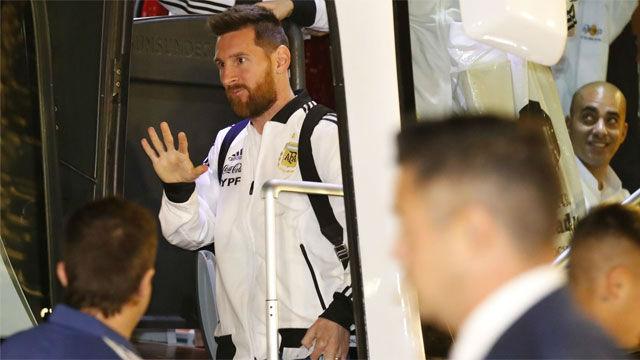 Así fue recibido Messi en Israel
