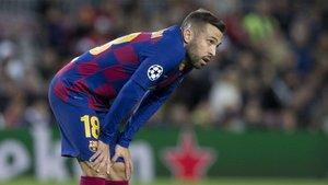 Así llega Jordi Alba a los entrenamientos con el Barça