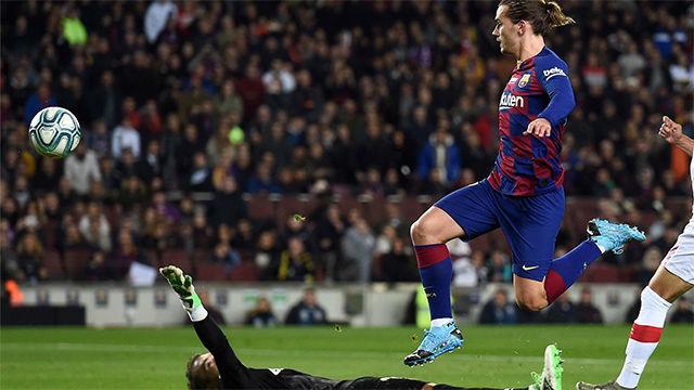 Asistencia de Ter Stegen, y carrera y picada Griezmann: el golazo para el 0-1 ante el Mallorca