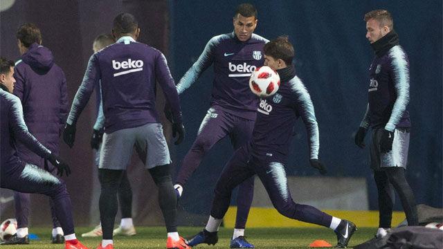 El Barça entrena pensando en el caso Chumi