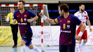 El Barça Lassa derrotó al BM Logroño en la pasada Supercopa (35-27)