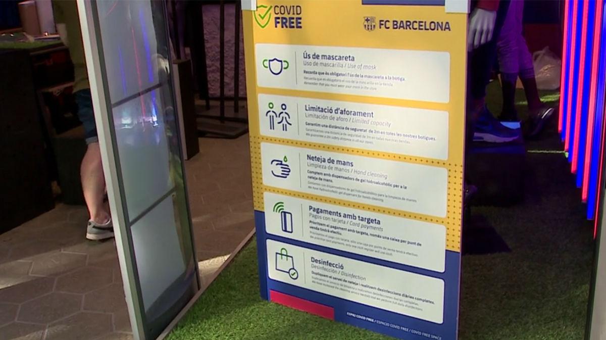 La Barça Store de Paseo de Gracia vuelve a abrir sus puertas