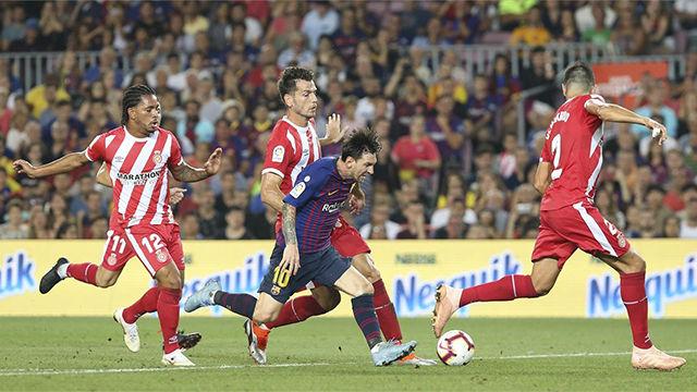 El FC Barcelona empató en casa con un buen Girona y un mal Gil Manzano