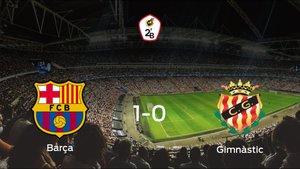 El Barcelona B gana 1-0 al Gimnàstic Tarragona en el Estadio Johan Cruyff