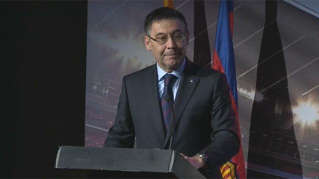 Bartomeu: El Barça siempre defenderá el derecho a la libertad de expresión