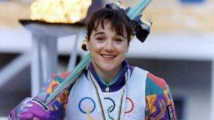 Blanca el día que ganó la medalla de bronce en los Juegos de Albertville 92