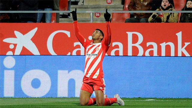 El Choco Lozano empató para el Girona ante el Atlético
