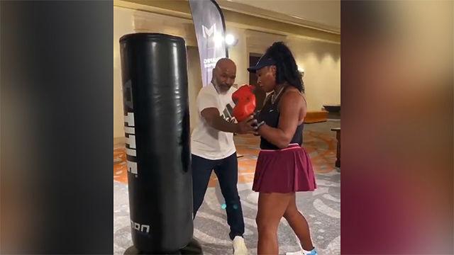 El curioso entreno de Serena Williams con Mike Tyson