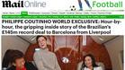 El Daily Mail vivió en primera persona el traspaso de Coutinho del Liverpool al Barça