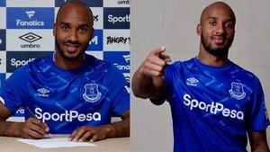 Delph ya se vistió del Everton