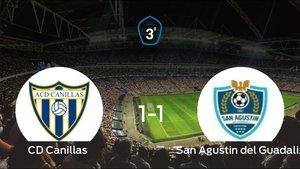 Empate 1-1 entre Canillas y San Agustin del Guadalix