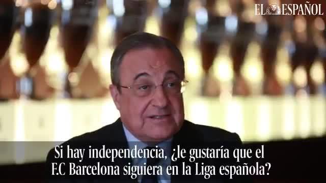 Florentino Pérez se moja sobre el Barça y Catalunya