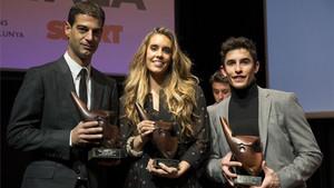 Gerard, Ona y Marc, en la festa de lEsport Català