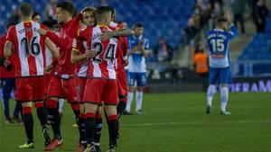 El Girona asaltó el RCDE Stadium por todo lo alto