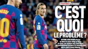 Griezmann ocupa la portada del diario LEquipe