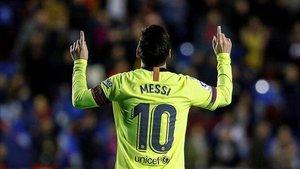 Hat trick de Messi contra el Levante en LaLiga Santander 2018 - 2019