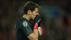 Iker Casillas, en una foto de archivo de un partido de Champions