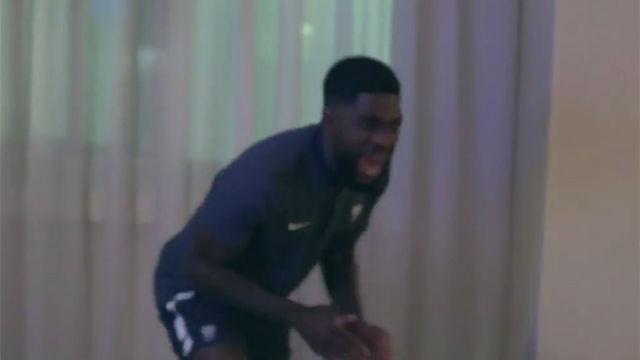 La increíble reacción de Umtiti al gol de Cristiano contra España