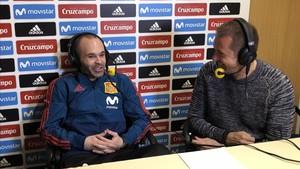 Iniesta, en la entrevista con Manu Carreño de la Cadena SER