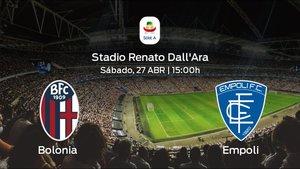 Jornada 34 de la Serie A: Previa del partido Bolonia - Empoli