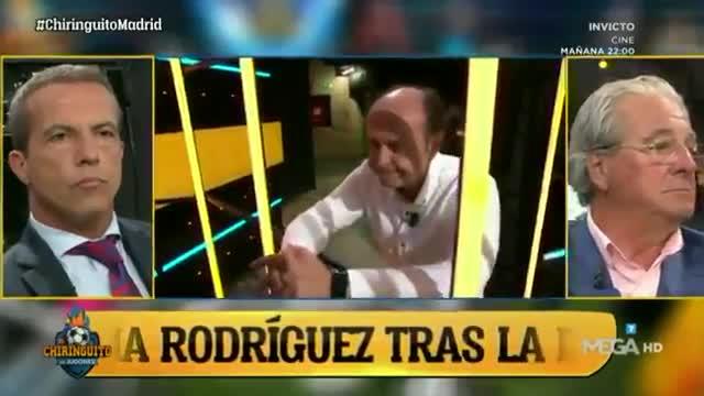 Juanma Rodríguez desolado tras la derrota del Madrid