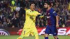 Luis Suárez marcó un gol a pase de Rakitic que fue anulado por un fuera de juego del croata inexistente