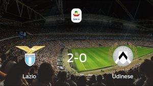 El Lazio venció 2-0 en su estadio frente al Udinese
