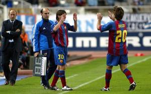 Leo Messi debutó el 16 de octubre de 2014 en Montjuïc