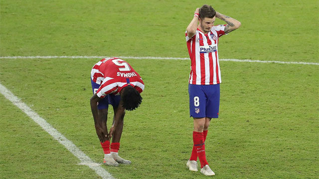 Los penaltis de Saúl y Thomas condenaron al Atlético de Madrid