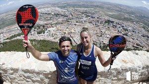 Mati y Viky en el Castillo de Santa Catalina