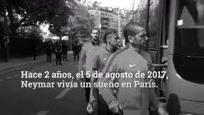 Neymar, del amor al odio en París