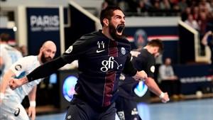 Nikola Karabatic firmó el miércoles ocho goles en la victoria del PSG ante el Montpellier