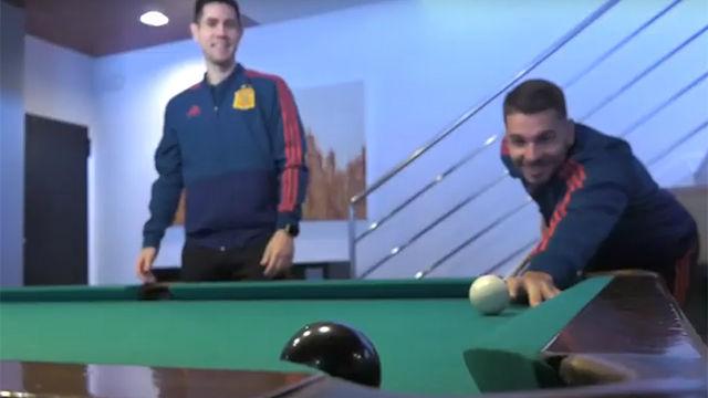 Partidas de billar y entrevistas en la mañana libre de la Selección