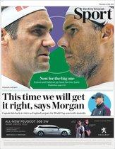 Portada de Telegraph Sport del jueves 11 de julio de 2019