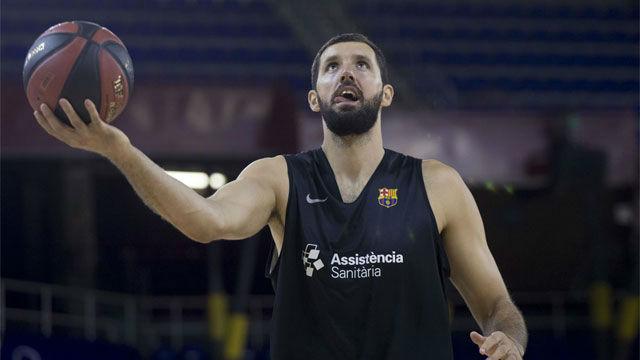 La primera canasta de Mirotic con el Barça