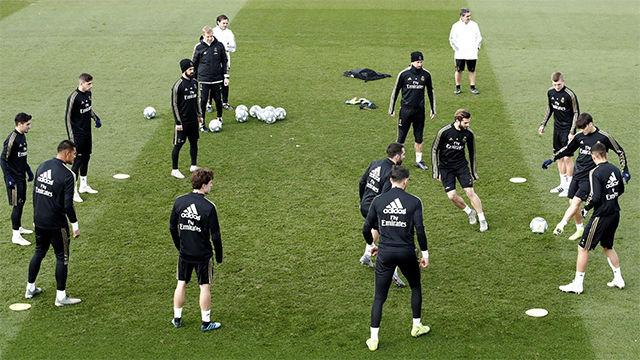 El Real Madrid prepara el partido frente al Espanyol