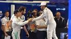 Rosberg y Hamilton