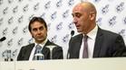 Rubiales y Lopetegui, en el anuncio de la renovación del seleccionador español hasta 2020