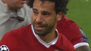 Salah abandonó la final llorando