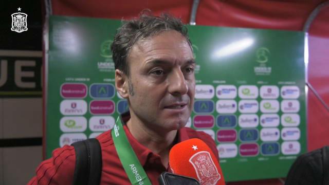 Santi Denia, orgulloso de su equipo